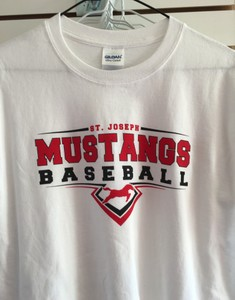 White Mustangs Baseball T-shirt.jpg