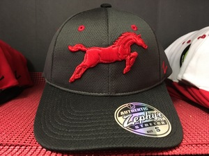 Charcoal hat Red Mustang.JPG